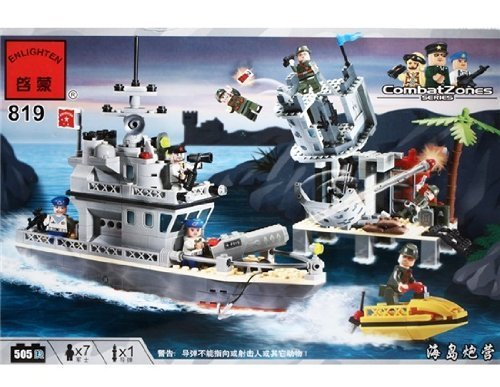ENLIGHTEN 819 Pearl Harbor Warship Model Assembly 505 Piece Puzzle Building Block Set by Star Toys