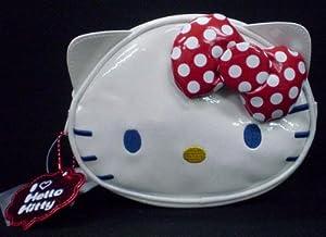 [Hello Kitty] white ƒAƒCƒ‰ƒuƒLƒeƒB porch TM Hello Kitty face Red Ribbon