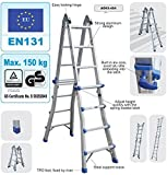 Telescopic Multi Purpose Combination Step Ladder System | 4x4 RUNGS