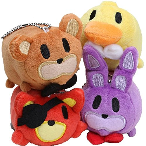 [4 pcs/lot ToysBEST Plush doll 8cm Stuffed Toys Tsum GIFT for Birthday or Christmas] (Five Nights At Freddys Costume Mangle)