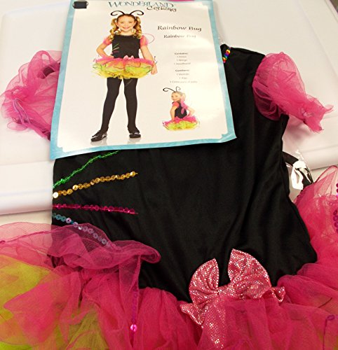 Wonderland Rainbow Bug Girls Dress S 4-6
