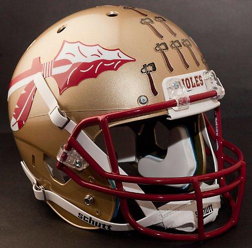 "FLORIDA STATE SEMINOLES Football Helmet Nameplate ""NOLES"" Decal/Sticker FSU"