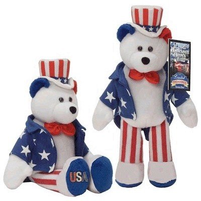 Limited Treasures Sam the Stars & Stripes Bear