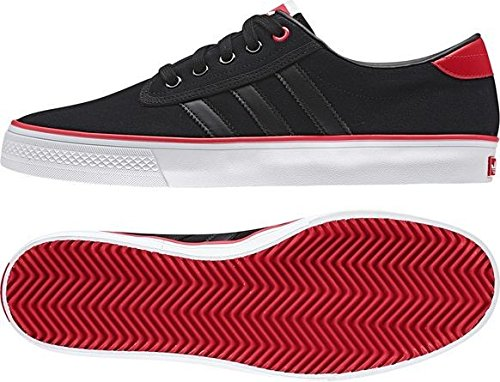 adidas  Kiel,  Scarpe da skateboard uomo - Core Black and Power Red 6.5 UK