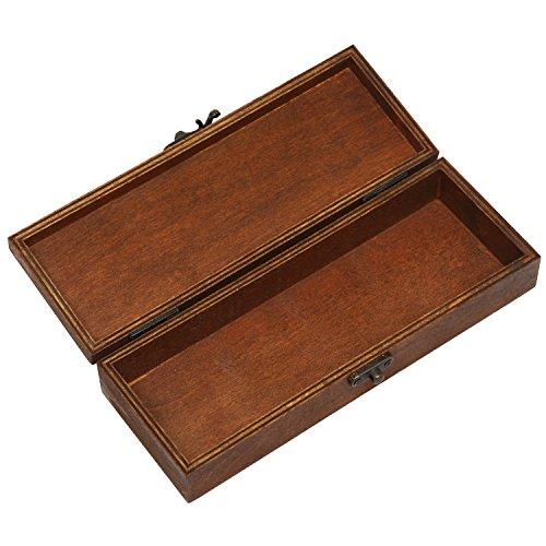 Vintage Style Eiffel Tower Paris Design Wooden Pen / Pencil Storage Holder Box Case with Latch