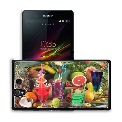 Assorted Cocktail Drinks Beverages Assortment Sony Xperia Z 5.0 C6603 C6602 Snap Cover Premium Aluminium Case Customized Made To Order Support Ready 5 4/8 Inch (140Mm) X 2 7/8 Inch (73Mm) X 7/16 Inch (11Mm) Luxlady Sony Xperia Z Cover Professional Xperia_
