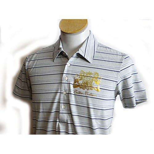 (カスタムカルチャー) CUSTOM CULTURE 半袖ポロシャツ 灰色 横縞 L
