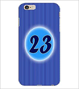 PrintDhaba Numerology Number 23 D-2581 Back Case Cover for APPLE IPHONE 6S (Multi-Coloured)