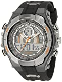 Armitron Mens 204589ORGY Analog-Digital Multi-Function Gray and Black Sport Watch