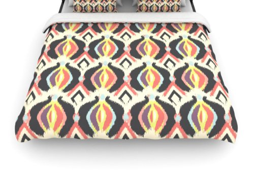 "Kess Inhouse Amanda Lane ""Bohemian Ikat"" 88 By 104-Inch Duvet Cover, King back-955509"