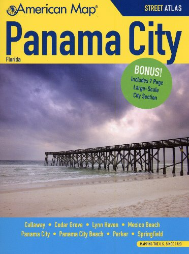 Panama City FL Atlas (American Map)