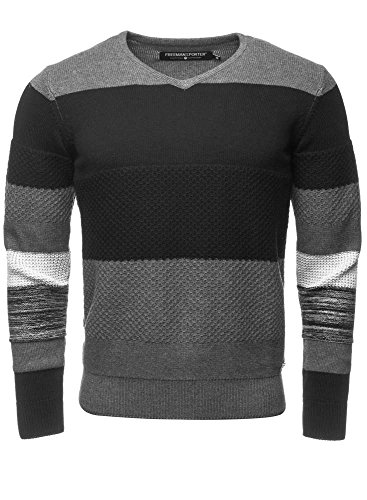 Freeman T. Porter Maglioncino Joaquim Cotton Knit mix Grau L