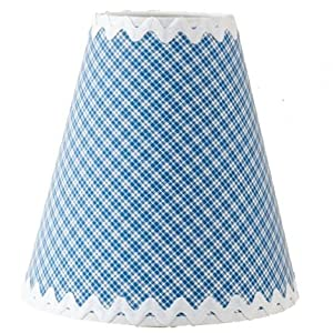 Blue gingham lamp shade for Warm biscuit bedding company