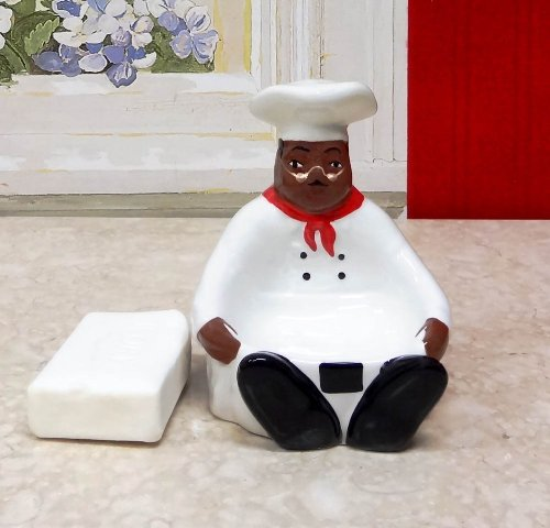 Details About Kitchen Decor African American Bistro Black Happy Chef