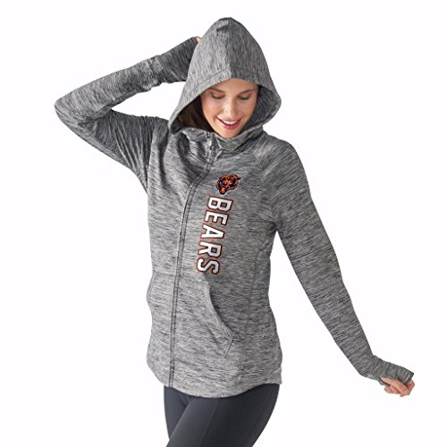 Women's G-III 4Her by Carl Banks NFL Recovery Full Zip Up Hoodie (Medium, Chicago Bears) (Chicago Bears Womens Hoodie compare prices)