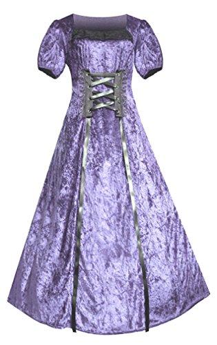 Victorian Renaissance Steampunk Gothic Romantic Dress (3X, Lavender) (Plus Size Punk Dress)