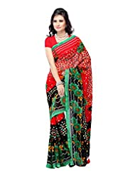 Traditional Wear Red Heavy Dani Printed Saree