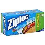 Ziploc Sandwich Bags, 100 bags