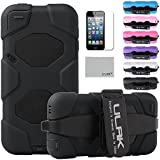 iPod Touch 5 case, ULAK® Extreme Heavy Duty Shock-Proof Sport Outdoor Case Cover Belt Clip for Apple iPod Touch 5 5th(Black)