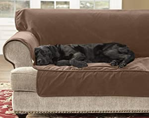 """Dog Couch Protector / Sofa Protector 70""""w, Chocolate,"""