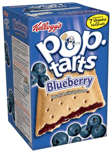 Buy Kellogg's Pop-Tarts Unfrosted Blueberry, 14.7-Ounce, 8-Count Boxes (Pack of 12) (Pop-Tarts, Health & Personal Care, Products, Food & Snacks, Breakfast Foods, Toaster Pastries)