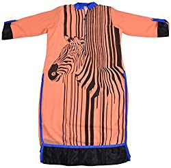 Apsara Women's Chiffon Regular Fit Kurta (Orange, XXL)
