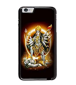 Fuson Premium Maa Kaali Metal Printed with Hard Plastic Back Case Cover for Apple iPhone 6