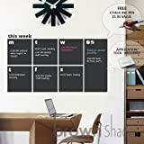 Weekly Wall Planner Chalkboard Decal - Free Chalk Ink Pen