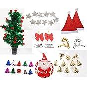 Pragati Pro Christmas Tree Ornament Decoration Assorted Pack Of 9 Varieties - 40 Pieces