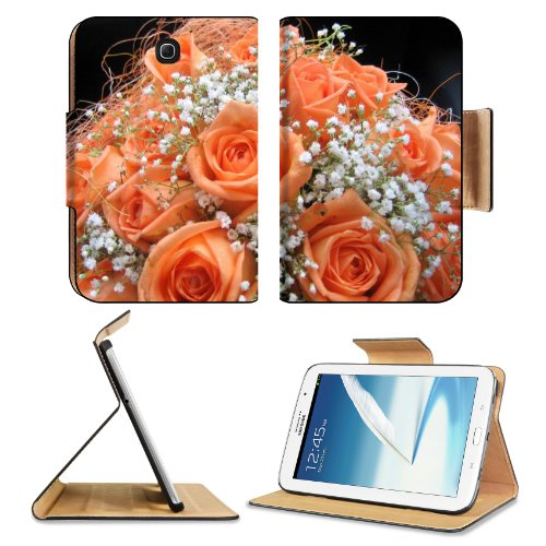 Roses Flowers Babys Breath Bouquet Tenderness Design Samsung Galaxy Note 8 Gt-N5100 Gt-N5110 Gt-N5120 Flip Case Stand Magnetic Cover Open Ports Customized Made To Order Support Ready Premium Deluxe Pu Leather 8 7/16 Inch (215Mm) X 5 11/16 Inch (145Mm) X 1 front-627789