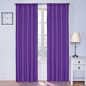 Eclipse Kids Kendall Blackout Thermal Curtain Panel,Purple,42-Inch x 63-Inch