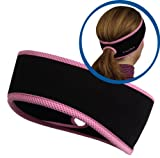 TrailHeads Goodbye Girl Ponytail Headband - black / fast pink