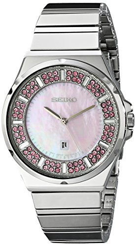 Seiko Women'S Sxdg13 Matrix Analog Display Japanese Quartz Silver Watch