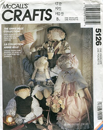 McCall's Crafts Pattern 5126 ~ The Annie Belle Collection Doll and Clothes