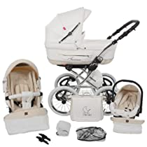 Hot Sale Lux4kids Turran Leatherette 3in1 Pram Travel System with car seat - ON STOCK ..
