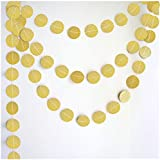 My Party Suppliers Circle Dots Glitter Paper Garland Hanging For Wedding Birthday Party Decoration Gold Circle Dots Paper Garland,Circle Garland,Christmas Garland, Gold Garland,beautiful Garland, Paper Garland, Rustic Wedding, Christmas Decor, Party Garla