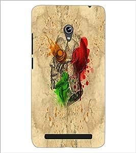 PrintDhaba Multicolour Skull D-5535 Back Case Cover for ASUS ZENFONE 6 A601CG (Multi-Coloured)