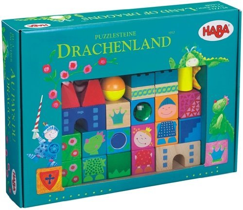 14.65 In L X 10.67 In W X 2.99 In H - Haba Puzzle Stacking Game Land of Dragons