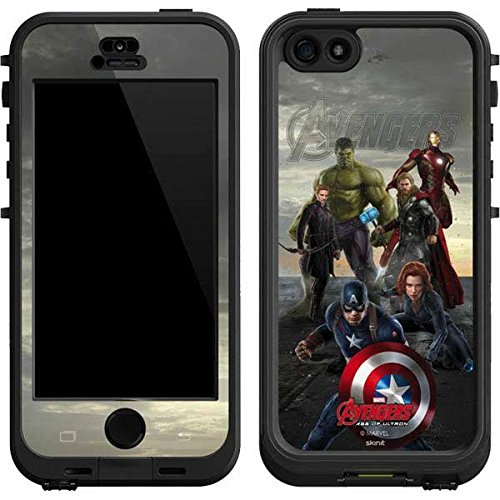 Marvel Avengers Lifeproof Nuud iPhone 5&5s Skin - Avengers Earths Mightiest Heroes Vinyl Decal Skin For Your Lifeproof Nuud iPhone 5&5s (Iphone 5 Marvel Decal compare prices)