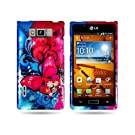 Hard Cover Case with BUTTERFLY BLISS Design for LG US730 AS730 SPLENDOR / VENICE / OPTIMUS SHOWTIME L86c...