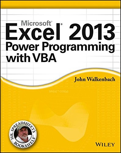 Excel 2013 Power Programming with VBA (Vba Programming 2010 compare prices)
