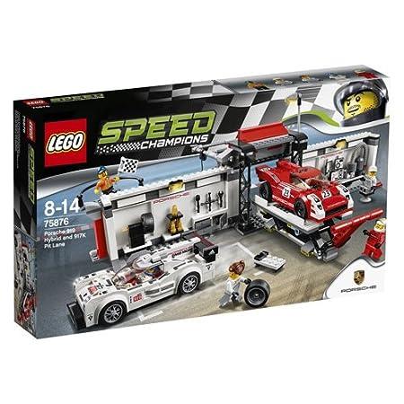 LEGO - 75876 - Speed Champions -  Jeu de Construction - Le stand de la Porsche 919 Hybrid et 917K