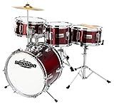 XDrum Junior Kinder Schlagzeug Drumset inkl. Schule mit DVD rot