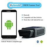 OBD2 Bluetooth Scanner Tool to Check Engine Lights and Diagnostics - Compatible with Most Vehicles - Works Only with Android Devices - 1 Year Money-back Guarantee, Limited Time Offer 47% off!