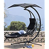 Suntime GF06350USA Helicopter Swing Steel Lounge - Black or Lime Green
