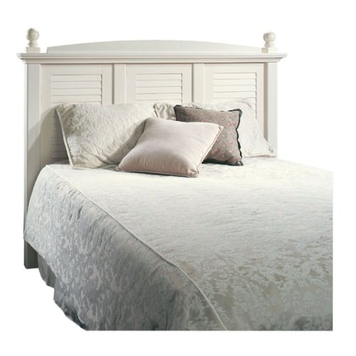 Harbor View Full , Queen Headboard with Antiqued White Finish