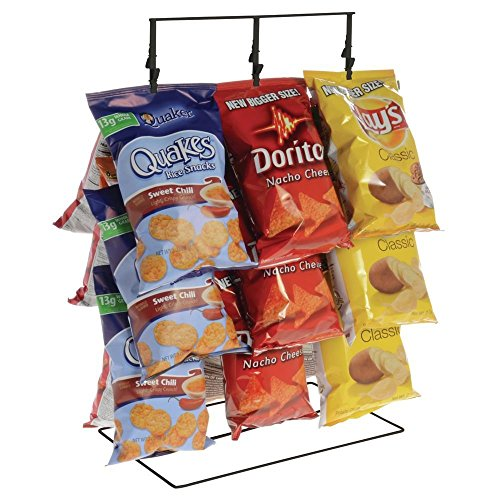 Black Countertop Display Rack For Chips - 3 Strand (Chip Rack Display compare prices)