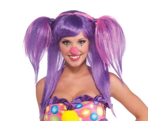 Forum Novelties Women's Circus Sweetie Costume Wig, Purple/Pink, One Size