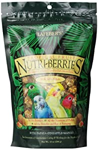 Lafeber's Gourmet Tropical Fruit Nutri-Berries for Cockatiels 10 oz Bag