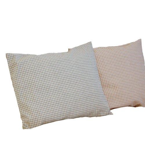 """Certified Organic Toddler Pillow 12X16"""" (Gingham Pattern Sage) front-600123"""